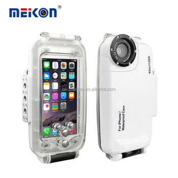 Meikon Waterproof phone Case 40M Underwater Mobile Phone case for Iphone 7 Waterproof Case Cover