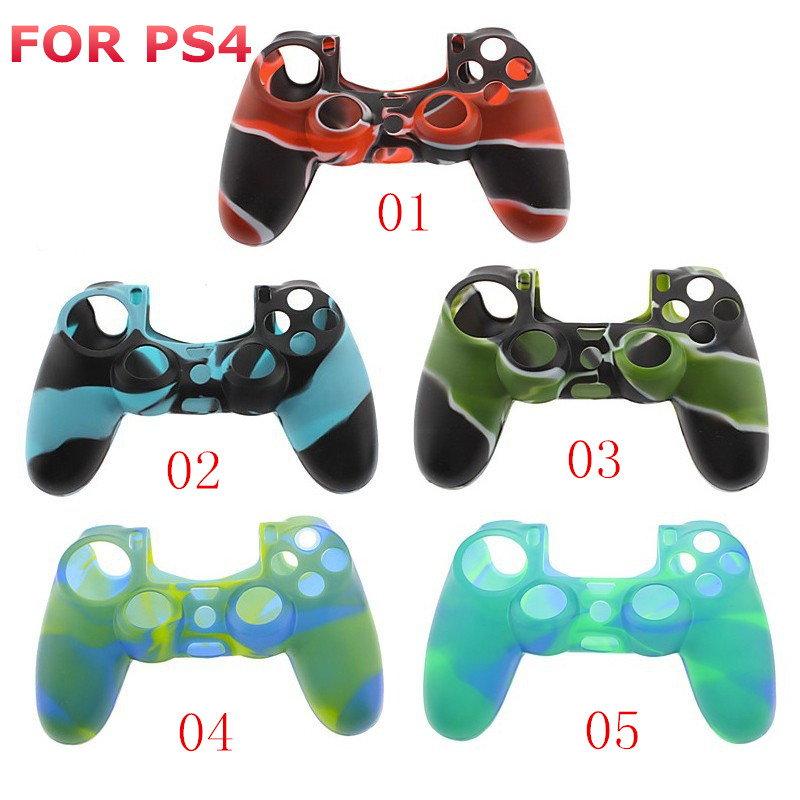 Silicone Gel Skin Grip Cover For Playstation 4 Silicone Case For ps4 Controller