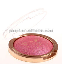 single bright color baked eyeshadow,makeup powder with brush