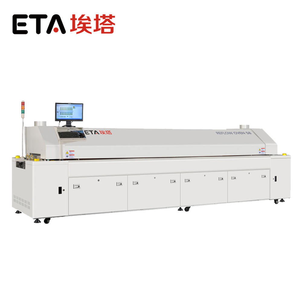 ETA Factory SMD Production System SMT Reflows Oven for Reflow Soldering LED PCB Board