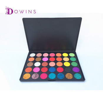 private label  35 color eyeshadow palette   cheap cosmetic glitter eyeshadow palette with small quantity
