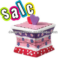 ceramic cake shape jewelry box