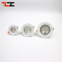 Rotatable head adjust round square shape fire rated retrofit led downlight ip65 9w 3w 5w 7w 12w