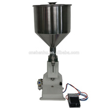 Foot pedal chili sause/oil/honey filling machine with factory price