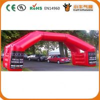 Latest product double inflatable arch door for advertising