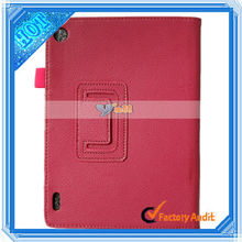 "7.9"" Tablet PC Litchi Grain Two-Folded PU Leather protective case for laptop for Iconia A1 Tablet PC Rose Red"