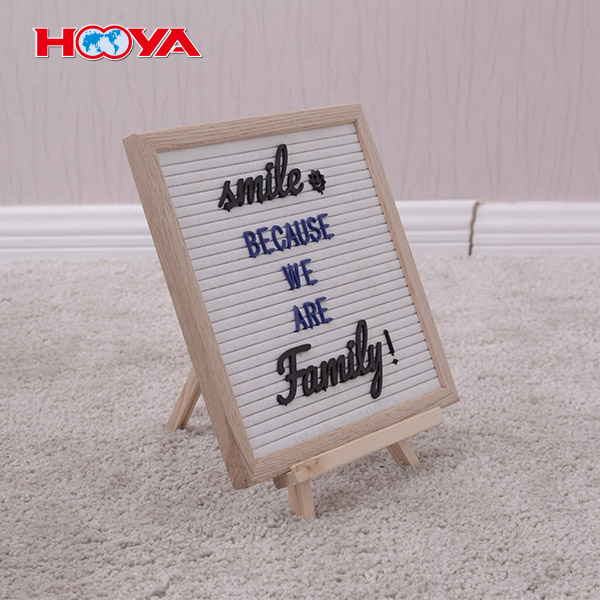 Changeable Oak Wood Frame Black Felt Letter Board 10X10 with 170 Plastic Letters wooden stand cloth bag