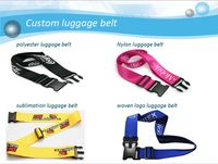 Wholesale adjustable tsa lock luggage belt strap