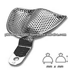 Perforated dental impression tray