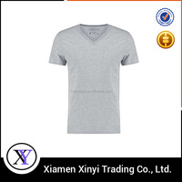 Hot Sell Casual Soft Blank Tshirt V Neck Spandex Men Regular Fit