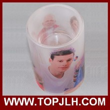 Frosted Sublimation glass candle holder with DIY photos