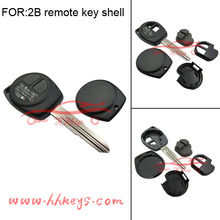 Plastic car key blank for Suzuki Swift remote control key without inner part