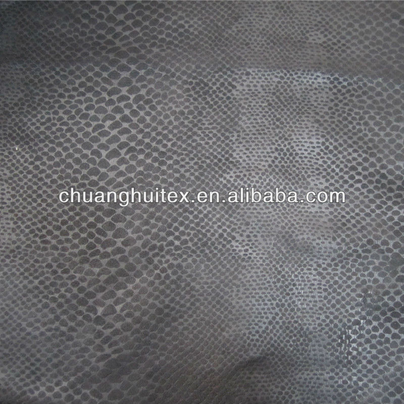 NEW ARRIVAL animal skin pattern bronzed suede fabric for sofa and cushion
