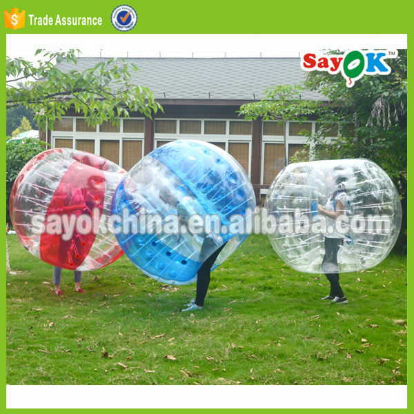transparent kids body zorb inflatable buddy bumper ball soccer bubble suit