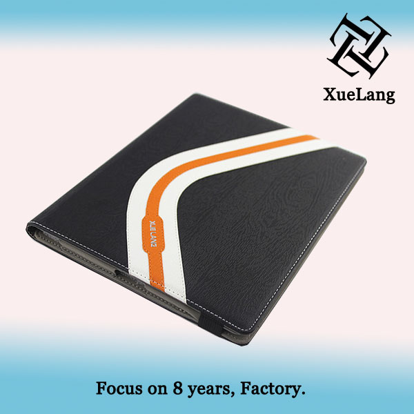 Ultra-thin flip Luxury case for iPad 3 cover made in guangzhou huaiqng leather