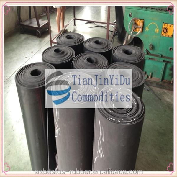 SBR cloth insertion rubber flooring mat good resistance to most types of oil