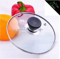 Adjustable cooking pot glass lid