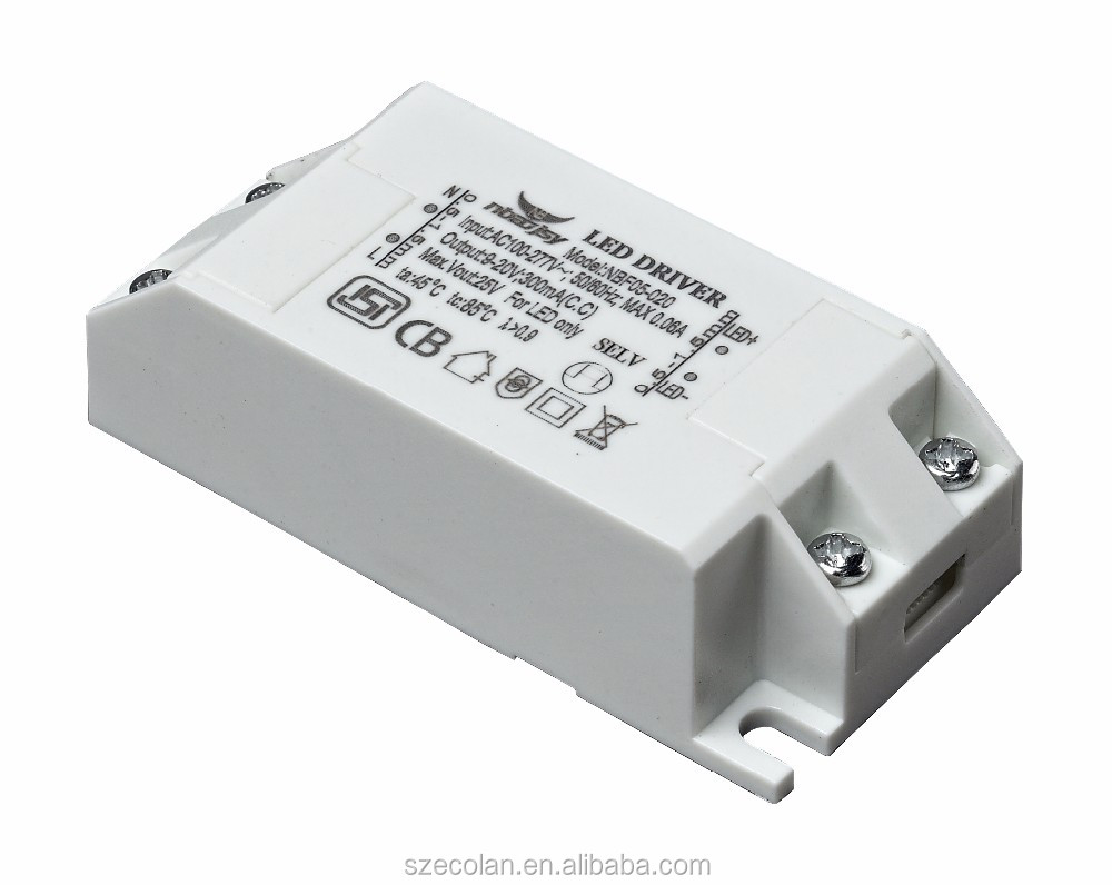 Constant current 300mA 5w high power LED driver 170-240VAC External Power supply led Ceiling lamp rectifier transformer