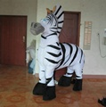 Funny 2 person zebra costume/2 person costumes for party show