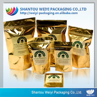 Standing reclosable plastic bag packaging for baked goods