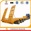 Price low bed trailer transporting mining machine best selling in Zambia