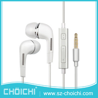 Noise cancelling 3.5mm mobile phone earphone , wired earphone with microphone
