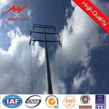 bitumen and galvanized electric power steel pole for transmission tower