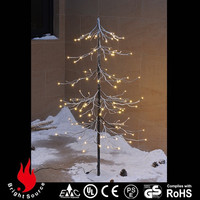 Garden artifical economical outdoor wire lighted christmas tree