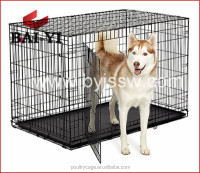 Two Door Design Folding Steel Dog Cages/Dog Crate/Dog Kennel With Plastic Tray