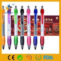 gel pens that write on black paper,aniaml banner ballpoint pen,logo branded pull out banner pen