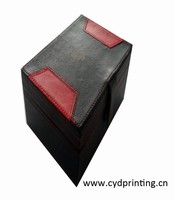 Custom handmade faux leather gift boxes