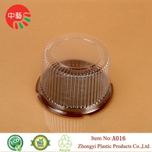 Hot Sale Plastic Disposable Clear Cake Dome Holders Blister Packaging Cake Round Container With Lid Cover