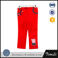 Plus Size Twill Fabric Child Summer Girl's Pant
