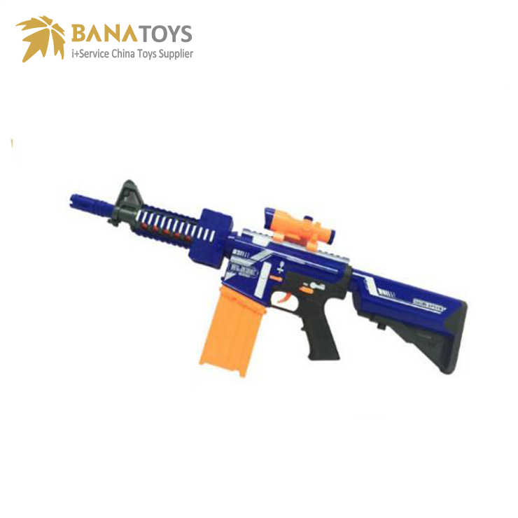 Safe electric airsoft gun with 20 soft bullets for kids