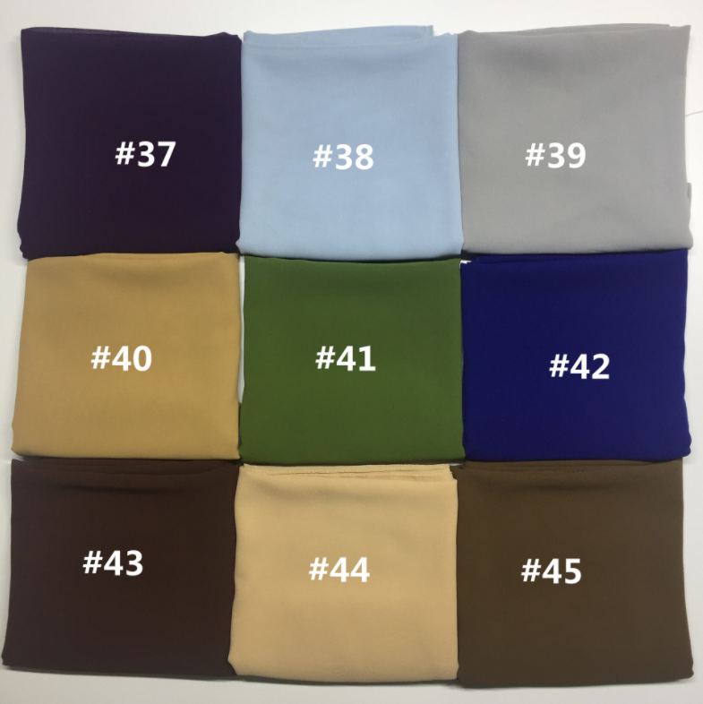Newest Luxury Plain color Fashion Bubble Chiffon for Muslim