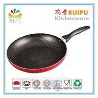 inner silk screen aluminium nonstick cookware capsule bottom fry spider pan