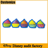 Disney audit manufacturer kids favours unique silicone rubber 2D funny fridge magnets