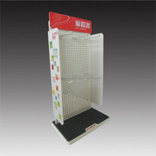 single-sided metal pegboard counter top display stands