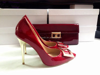 Catwalk Brand Name Plus Size High Heel Stiletto Shoes Women Matching Bags and Shoes