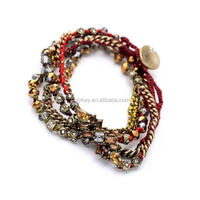 wholesale 2014 new products in alibaba fashion vintage wraps mix beads bracelet jewelry