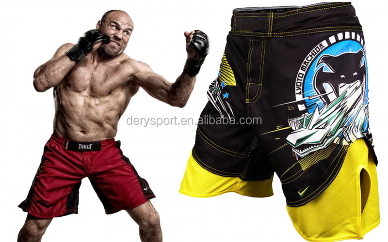 Dery high quality blank mma shorts wholesale made In China 2015