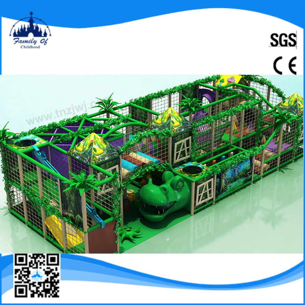 CE certificated LLDPE plastic jungle theme indoor playland