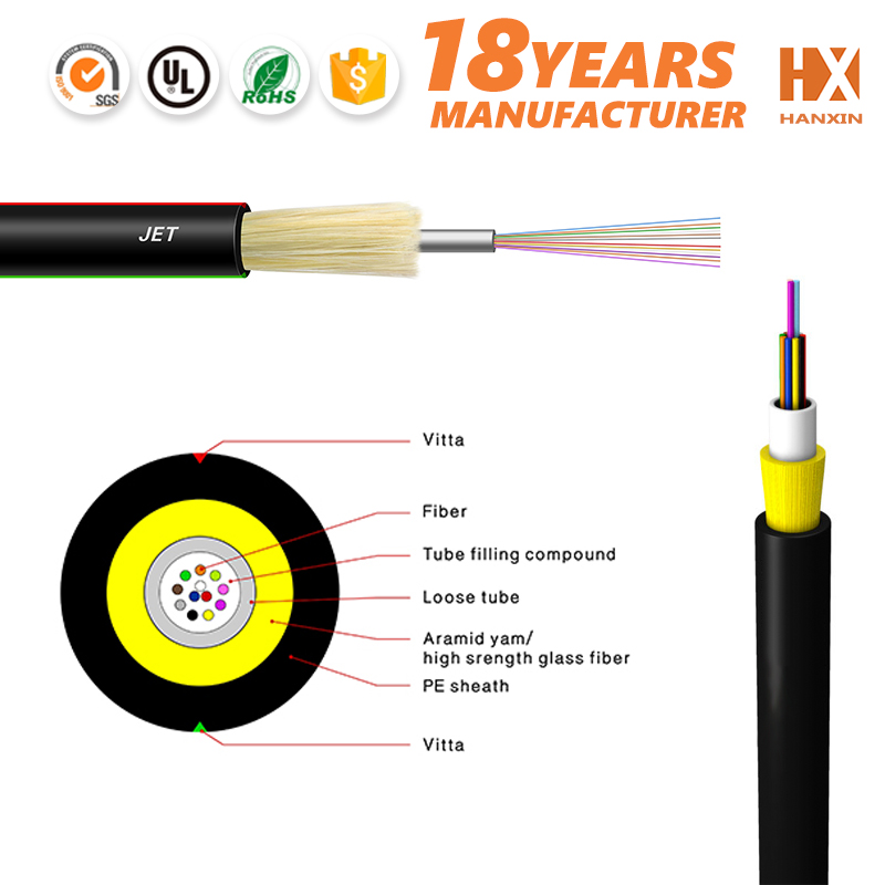non-armoured single loose tube jelly filled underground telephone cable fiber optic cable jet