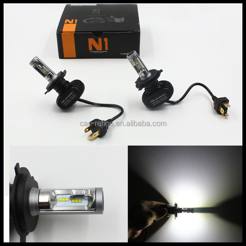 automotive led headlight h4 high low head light 50w 8000lm car h4 led headlamp bulbs 12v led head lamp
