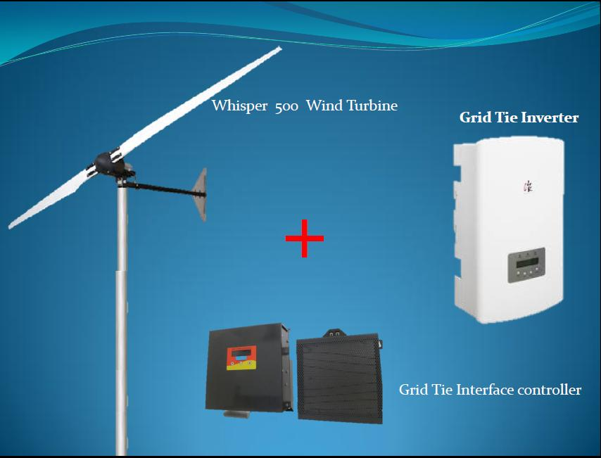 Whisper 500 Grid Tie small wind Turbine