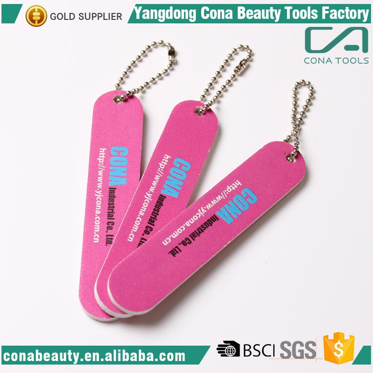 Professional nail file with keychain