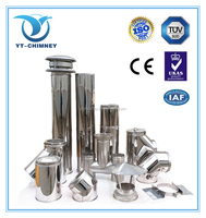 Fireplace Stainless Steel Twin Wall Chimney Flues in 5'',6'',7'',8''