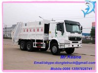 Howo 8-10 tons compressed garbage truck