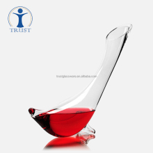wholesale Hand Made high quality antique goose animal shaped clear glass wine decanter