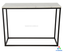 Marble top furniture side coffee table with steel frame wholesale